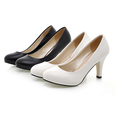 ENMAYER 2015 Spring Autumn Work Shoes Soft Leather OL Thin Heels Single Shoes Womens Shoes White Black High-heeled Shoes<br><br>Aliexpress