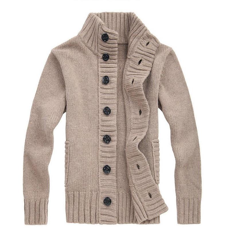 Sweater men 2015 Fashion men Sweater Casual collar Slim Fit Long Sleeves Knitted Men Sweaters cardigan men size M~XXL(China (Mainland))