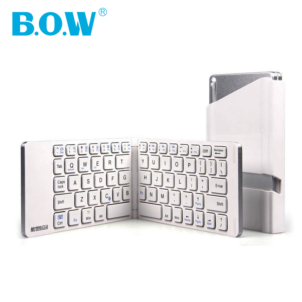 Slim keyboard,Bluetooth 3.0 Wireless Folding Compact Pocket Size Keyboard Bluetooth for Smartphones/Tablet /Mac OS/Windows-white(China (Mainland))