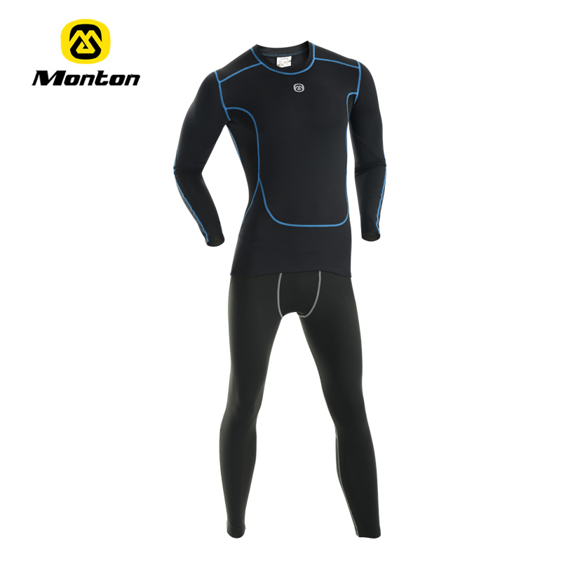 Monton 2014 autumn winter clothing ride fleece thermal underwear set basic breathable - A girl like cycling store