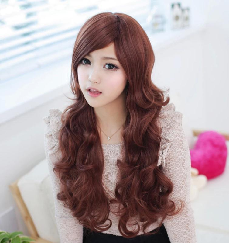 2015 new stylenatural long wavy hair wigs stylish korea lovely girl long curly wig hair styling cheap long women wigs loose wave(China (Mainland))