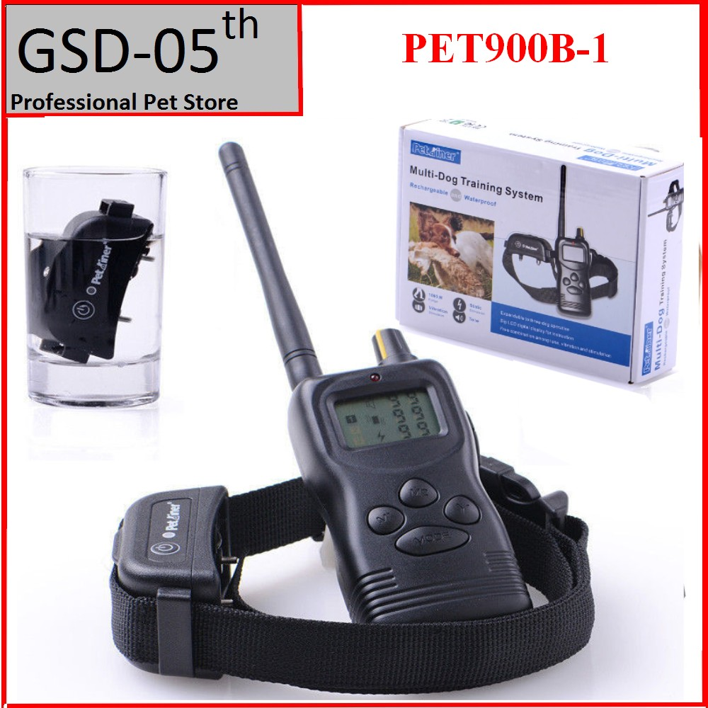1000M Waterproof Remote Control Pet Dog Training Collar System Dogs Beeper 99 Level PET900B For 1 Dog