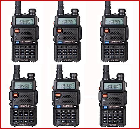 6pcs in moscow Walkie Talkie Professional CB Radio Baofeng Uv-5r For Dual Band Radio 136-174 400-520 HF Transceiver Baofeng uv5r(China (Mainland))