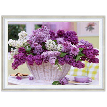 Buy DIY 5D full Diamond Mosaic Diamond Painting Cross Stitch lavender flower Kit Diamonds Embroidery Square Drill Home Decoration for $5.42 in AliExpress store