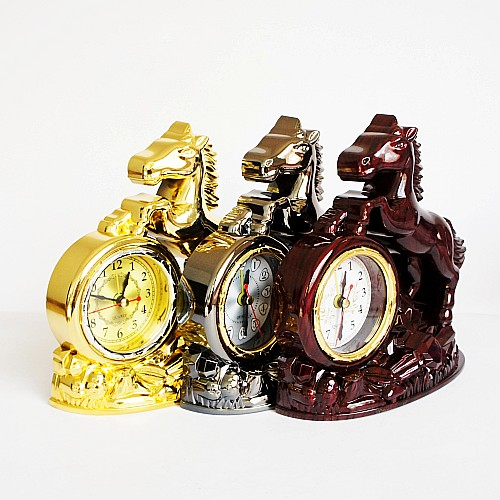 European styling table clock Horse clock Madaochenggong craft creative personality small clock(China (Mainland))
