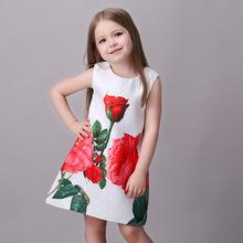 Fashion Flower Girls Dresses Monsoon Summer Baby Girl Kids Costumes Princess Dress Girls Dresses For Girls Age 3-8 9 10 11 13