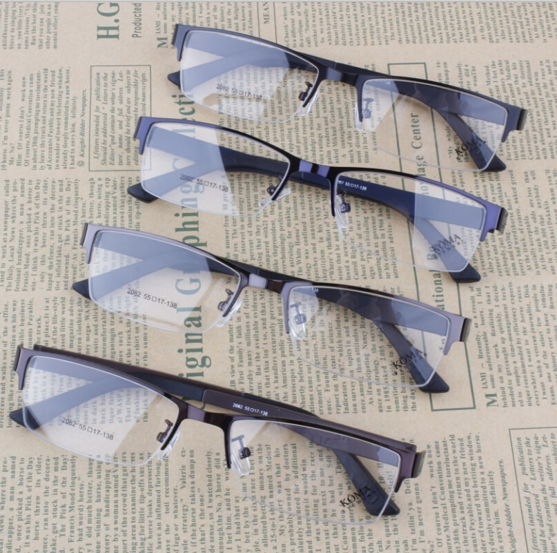 2016 NEW Myopia Glasses Frames Plain Lenses Light Frame Eye Glasses for Men(China (Mainland))