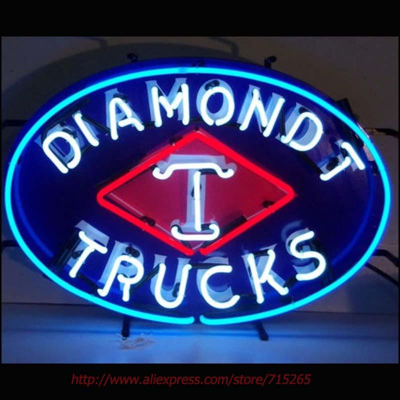 Diamond T Trucks Neon Bulbs Neon Signs Real Glass Tube Art Handcraft Signs Decorated Beer Pub Custom LoGO Fast Shipping 24x17(China (Mainland))