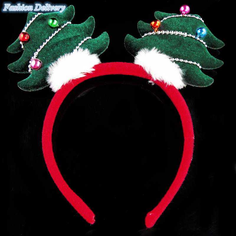 1x Christmas Tree Children's Hair Band Hair Accessorie Head Hoop Head Bands Christmas Gift Free Shipping(China (Mainland))