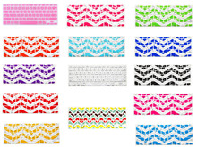 Buy HRH Chevron Zig-Zag Silicone Keyboard Cover Protector Film Skin Macbook Air Pro Retina Display 13 15 17 Release 2016 for $2.99 in AliExpress store