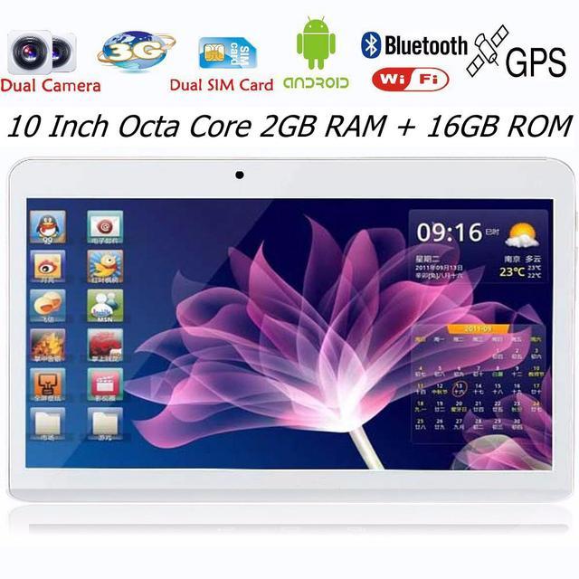 """Горячая распродажа! 10 дюймов android-автомобильный планшет пк площадку 16 ГБ Rom мтк Qcta 2 ГБ Ram Bluetooth GPS 3 г телефонный звонок SIM карты 10 """" Phablet"""