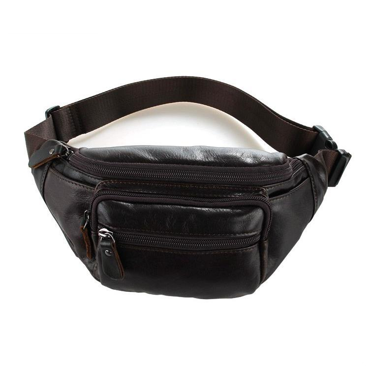 2015 New High-Grade Waist 100% Genuine Leather First Layer Of Leather Mans Sport Leather Waist Bag Multifunctional Casual Bags<br><br>Aliexpress