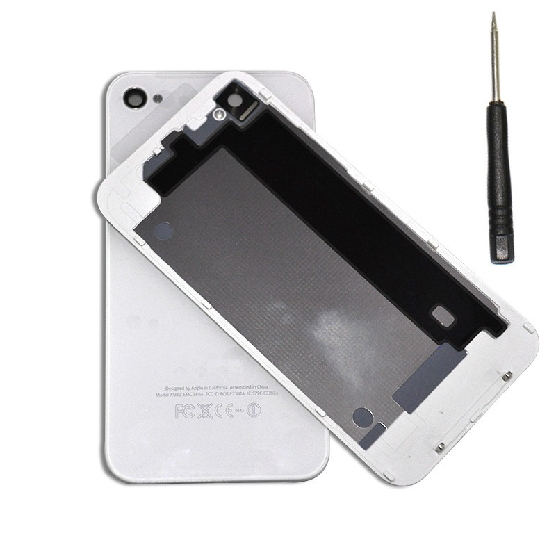 Free shipping OEM Battery Cover For iPhone4 4G Battery Cover Case with Tools(China (Mainland))
