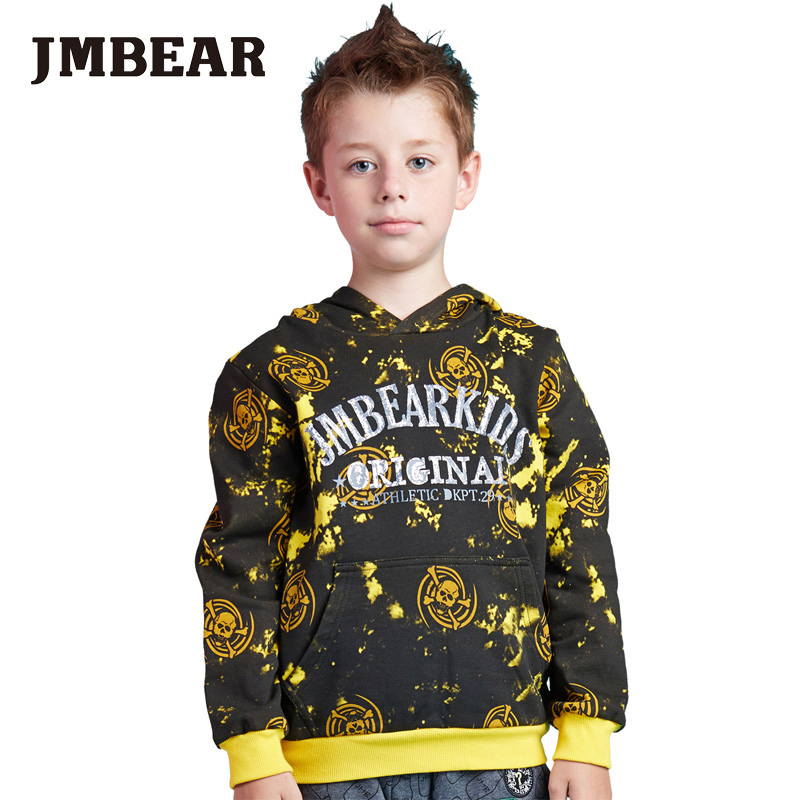JMBEAR boys coat hoodie jacket sweater pullover outwear kids clothes children fashion autumn wear(China (Mainland))