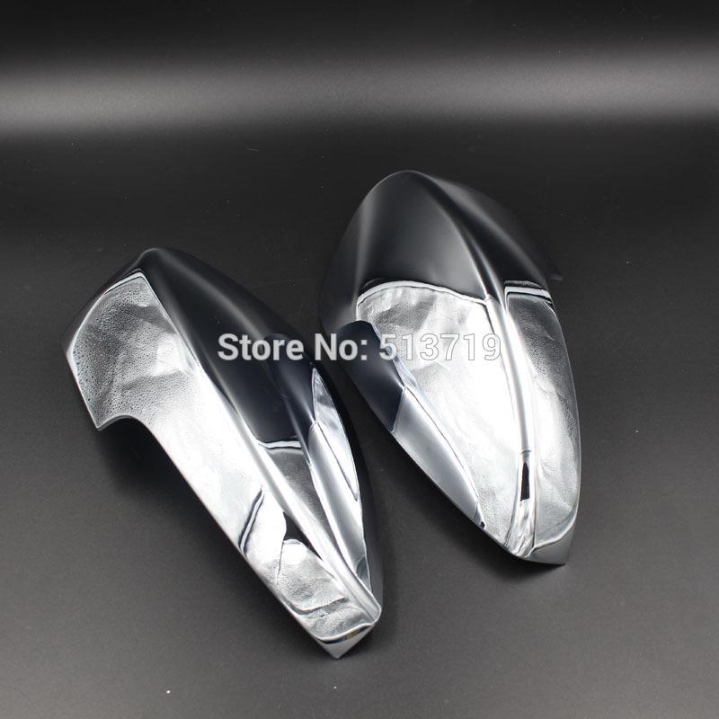 Rear Mirror Cover Mirror Cap Fit For ESCAPE KUGA 2013 Chrome 2pcs per set(China (Mainland))