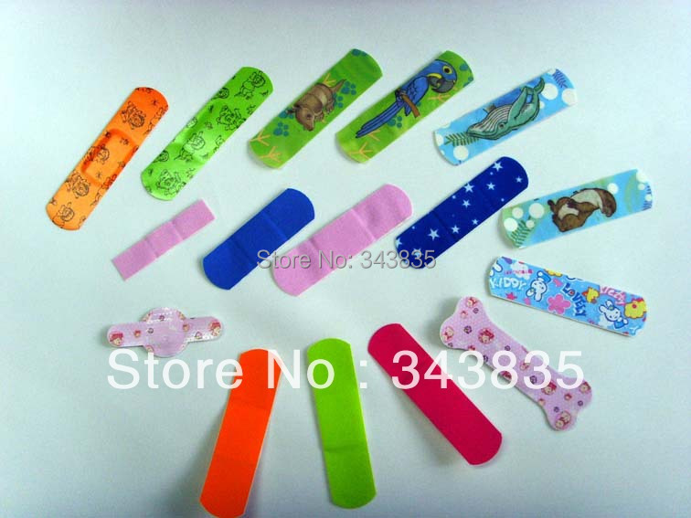72*19mm 500 PCS FREE SHIPPING Wound Care Cartoon Adhesive Wound Plaster / Dressing(China (Mainland))