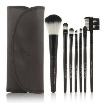 Хиты 2014! профессиональный 7 шт. комплект кистей для макияжа инструменты макияж парфюмерия комплект шерсть марка составляем комплект щетки чехол бесплатная доставка п . ю .