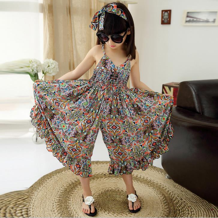 Kids Dresses For Girls Fashion Girls Dresses Summer 2016 Floral Bohemian Girl Dress Princess Novelty Kids