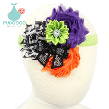 2015 Halloween Baby Flowers Headbands Kids Hair Accessories princess Infant Toddler Children Elastic Rhinestone Headwear H119