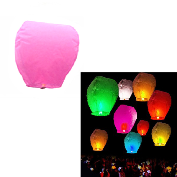 5Pcs Fire Sky Chinese Kongming Float Wishing Paper Lantern Colorful Wedding Festival Wedding Party Decoration(China (Mainland))