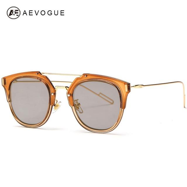 Aevogue бесплатная доставка новые марка дизайнер сплава храм солнцезащитные очки женщины горячая распродажа 7 цвета солнцезащитные очки óculos UV400 AE0242