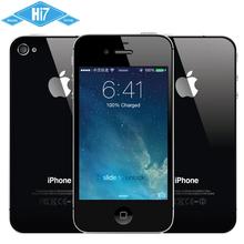 Original Unlocked Apple iPhone 4S ROM 8GB 16GB 32GB 64GB iOS 8 Dual Core 3G WIFI GPS 8.0MP 1080P 3.5″ IPS Smart Mobile Phone
