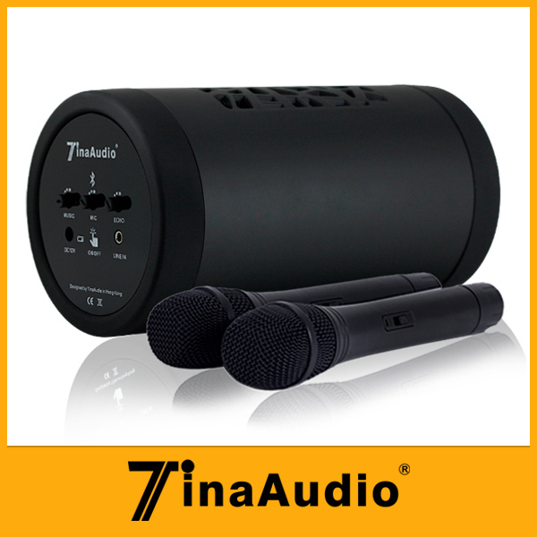 Good sining practise teacher Portable twin wireless microphone with bluetooth mini audio amplifiers in home(China (Mainland))