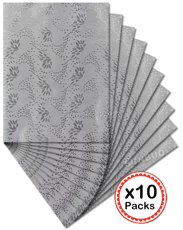 DHL free shipping African SEGO headtie gele Head Tie Wraps 10 packs/ lot 2551 Silver(China (Mainland))