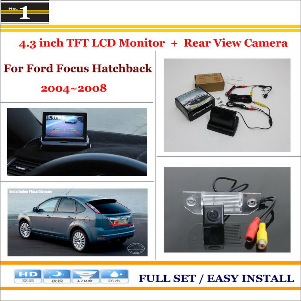 Car Reverse Backup Rear Camera + 4.3 TFT LCD Screen Monitor = 2 in 1 Rearview Parking System For Ford Focus Hatchback 2004~2008<br><br>Aliexpress