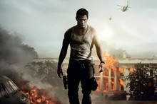 2013 Channing Tatum Fire Helicopter Man Home White House Down Tv Movie Film Poster Fabric Silk Poster 24x36inch(China (Mainland))