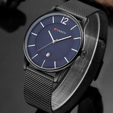 Buy Men Watches Top Brand Luxury 30M Waterproof Ultra Thin Date Clock Male Steel Strap Casual Quartz Watch Men Sports Wrist Watch for $14.99 in AliExpress store