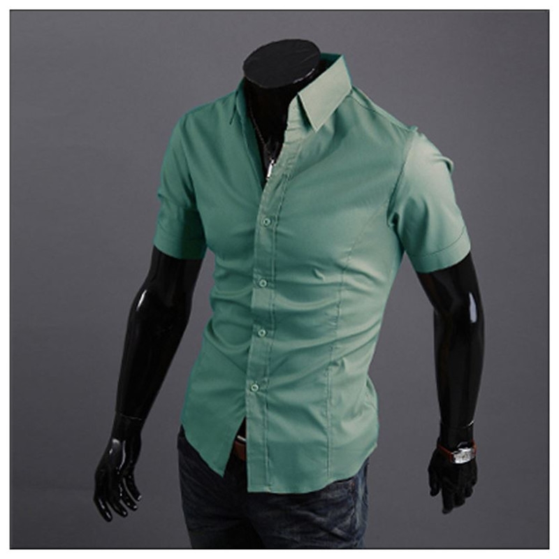 Clearance flash delivery brand mens short sleeve luxury for Short sleeve mens dress shirts clearance