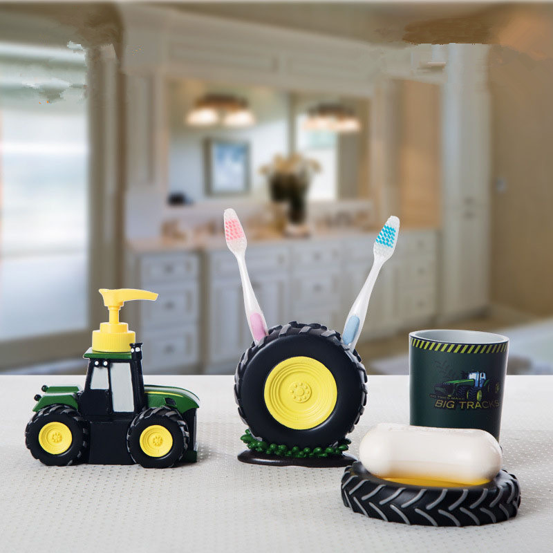 personality tractor kids bathroom sets kit para ba online get cheap kids bathroom accessories set