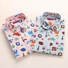 Dioufond Blouses Women Long Sleeve Shirts Animal Print Cotton Ladies Tops Vintage Blusas Clothing Womens Shirt Plus Size 5XL