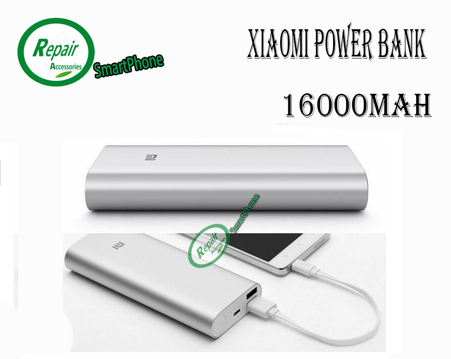 Original XIAOMI Power Bank 5V 2.1A 16000mAh Dual USB Smart Android Mobile Phone Tablet Notebook xiaomi LED