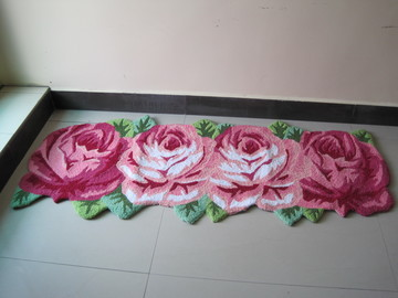 2014 Handmade Boutique Four Long Strips of Roses Embroidered Carpet. Marriage Premises Pad. Bedside Mats, Bathroom Mats Bay Wind(China (Mainland))
