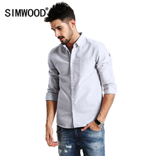 Buy SIMWOOD 2017 New Spring Casual Shirts Men Long Sleeve 100% Pure Cotton Slim Fit CS1597 for $25.45 in AliExpress store