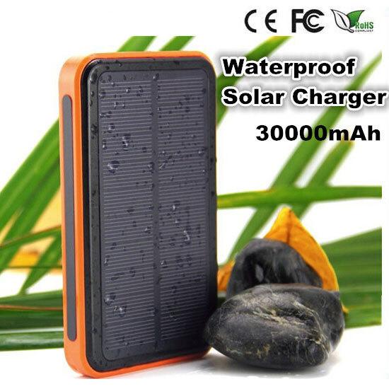 2015 New Vidar 30000mah Waterproof solar power bank dual usb universal portable solar battery charger for iphone/samsung etc.(China (Mainland))