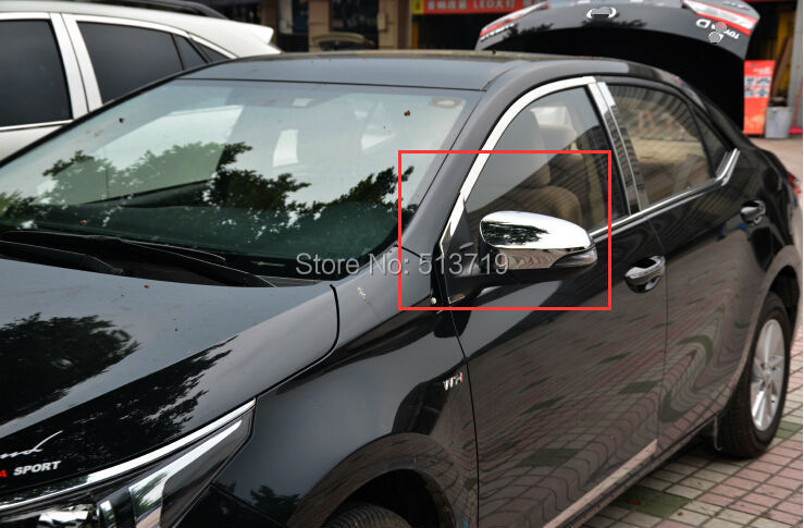 Car side mirror cover Rearview Trim ABS Chrome fit toyota Corolla 2014 - DongZhen Technology Co., Ltd store