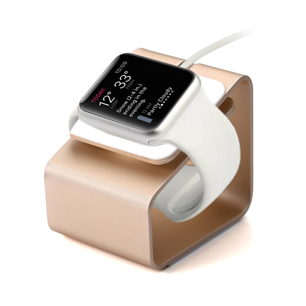 For iWatch Aluminum Metal Charging Stand Charging Bracket Docking Station Stock Cradle Holder for Apple Watch 38mm/42mm<br><br>Aliexpress