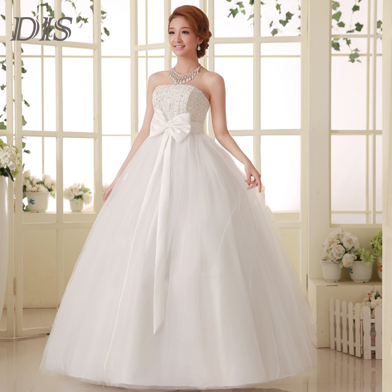 Fashionable discount rose flower ball gown wedding dresses for Designer wedding dresses at discount prices