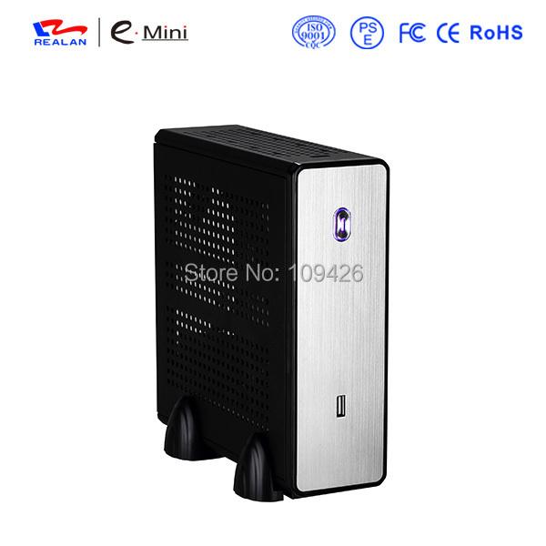 REALAN mini itx desktop htpc computer case E-C3 without power supply SGCC 0.8mm black silver(China (Mainland))