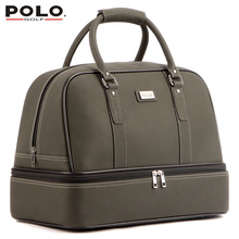 New Brand POLO Golf double clothing shoes package travel bag bolsas zapatos golf pu waterproof golf shoes bag cover uomini 2015(China (Mainland))
