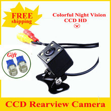 Factory Sell CCD Car Rearview Camera coloful night vision Wide Angle car rear view camera reversing Backup Camera Rear Camera(China (Mainland))