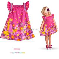flower girl dresses kids summer clothes children clothing baby brand toddler dresses Printing Princess cute robe bebe fille kiz