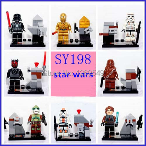 SY198 star wars clone Darth Vader C-3PO Maul minifigures buliding block toys Anakin blocks Toy Bricks - M J store
