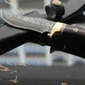 Custom Damascus Handmade Fixed Blade Knife Comes with a sheath