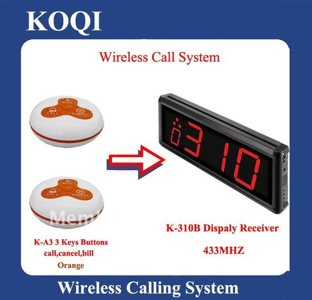 2012 Hot Sale Wireless Calling system for Restaurant (310B A3-O)
