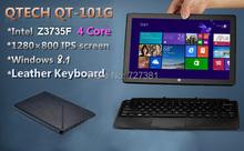 Touchscreen 10 Inch Convertible Ultrabook cpu Intel 4 Cores Windows 8.1 PRO Azerty Russian Spanish Keyboard vs surface pro(China (Mainland))