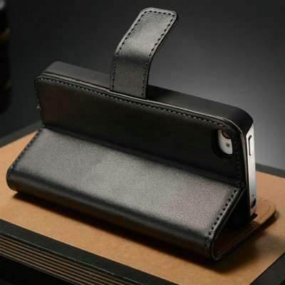 Genuine Leather Wallet Case for iPhone 4 4S Flip with Stand Card Holder Luxury Book New Arrival, 2 styles 10 Pcs/lot Drop Ship